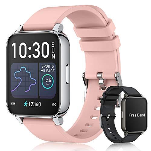 """Smartwatch Pulsera Inteligente con Medidor de Temperatura Corporal, EASYTAO Reloj Inteligente de 1,69"""" Fitness Tracker, termómetro, Cronómetro, Calorías, Podómetro,..."""