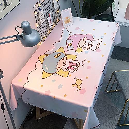Mantel rectangular antipolvo, lavable, funda de mesa para mesa de comedor de cocina, 270 x 350
