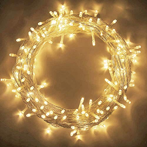 MYGOTO 98FT 200 LEDs String Lights Waterproof Fairy Lights 8 Modes with Memory 30V UL Certified Power Supply for Home, Garden, Wedding, Party, Christmas Decoration Indoor Outdoor (Warm White)