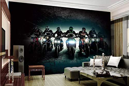 3D Creatieve Retro Motorfiets Mural Cyber Cafe Restaurant Cafe Bar Werkkleding Achtergrond Muur Papier 430 * 300cm(169.3 x 118.1 inch)