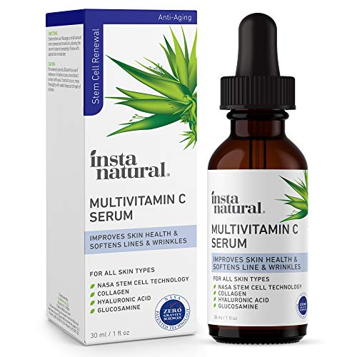 Vitamin C Serum for Face - Multivitamin Power Facial Serum- Natural Anti-Aging, Brightening & Hydrating Facial Care - Nourishing Lines & Wrinkle Treatment - With Hyaluronic Acid & Collagen - 1 oz