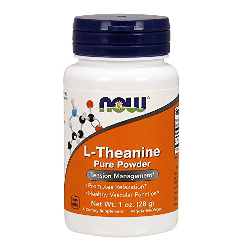 NOW Supplements, L-Theanine Pure Powder, Tension Management*, Amino Acid, 1-Ounce