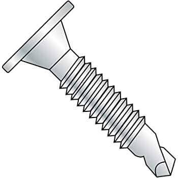Type F Serrated Hex Washer Head #10-24 Thread Size 5//8 Length Pack of 100 Steel Thread Cutting Screw Zinc Plated Finish