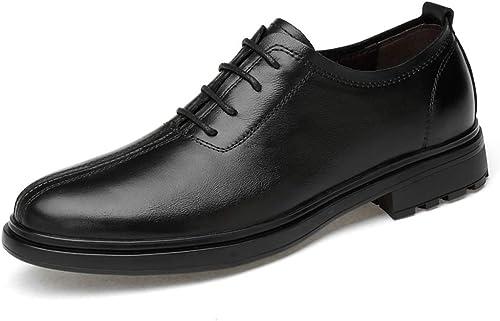 Wanlianer Chaussures Chaussures Chaussures en Cuir pour Hommes Fashion Oxford Chaussures à Lacets Confortables GentleHommes Soft GentleHommes Chaussures Oxford d'affaires (Couleur   Noir, Taille   42 EU) 7e8