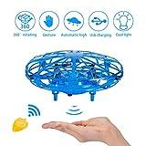 NEWYANG Mini Drône UFO pour Enfants - Jouet Volant Hélicoptère Télécommandé Drône USB Rechargebale Drone Quadcopter Drone avec Commande Manuelle Drone Cadeau Jouets Volants pour Adolescents (Bleu)
