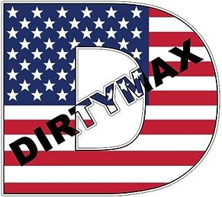 Dirtymax Diesel American USA flag U.S. (x2) Sticker Decal Aufkleber Pegatinas Autocollants/Plus Coconut Shell Keychain Ring/Chevy GMC Car Truck Bumper Bike Notebook Skateboard