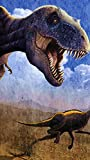 PBNUMBERS DIY Paint by Numbers Kits Tyrannosaurus Ornithomimus Dinosaur Oil Painting Linen Canvas Home Wall Decor for Adults Beginner 16X20 Inch (Frameless)