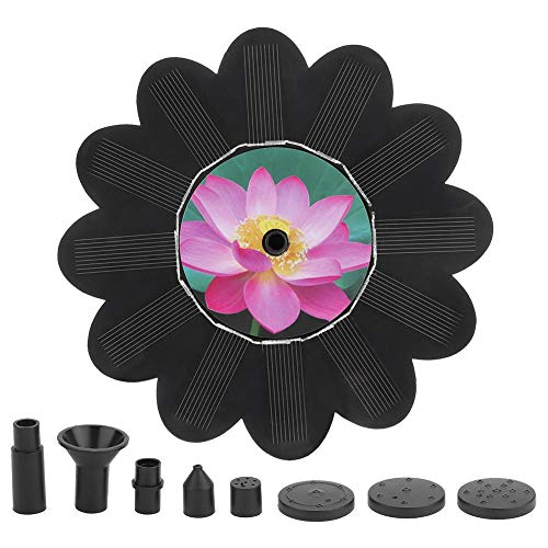 Weiyiroty Solar Fountain, 6V 1.4W Brushless Motor Solar Fountain PUM, Suitable for Bird Bath/Fish Tank/Small Pond/Water Circulation Oxygen Supply. Small Size and Compact/Durable in Use.