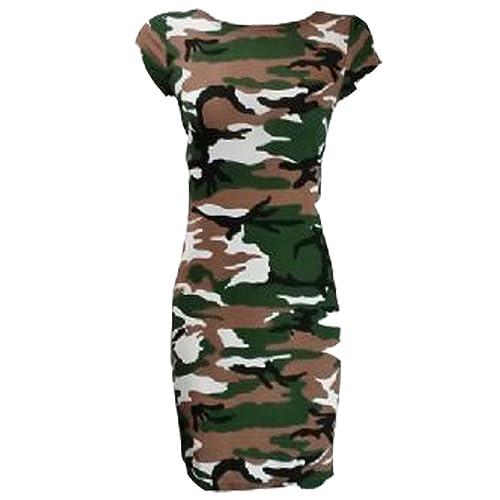 1818dc1010215 GUBA® New Ladies Women's Cap Sleeve Printed Bodycon Stretch Jersey MIDI  Dress Plus Size 8