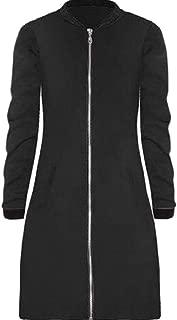 Womens Comfy Windproof Long-Sleeves Zip Front Jacket Coats Black US X-Small