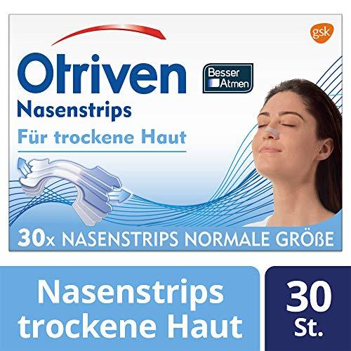 Otriven Besser Atmen transparente Nasenstrips für trockene Haut, normale Größe, 30 Stück