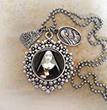 Saint Gertrude Of Nivelles, St. Gertrude Patron Saint of Cats, Divine Messenger Help. Choose a Necklace or Backpack Clip. Bless and Protect My Cat.