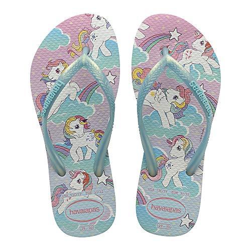 Havaianas Mädchen Slim My Little Pony Flipflop, Weiß, 46 EU