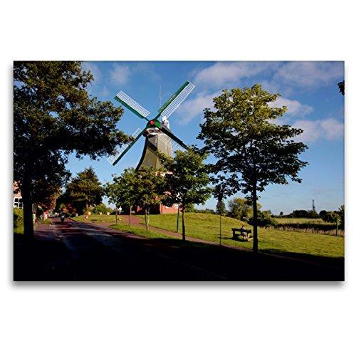 Premium Textil-Leinwand 120 x 80 cm Quer-Format Grüne Mühle | Wandbild, HD-Bild auf Keilrahmen, Fertigbild auf hochwertigem Vlies, Leinwanddruck von Hardy Dreegmeyer