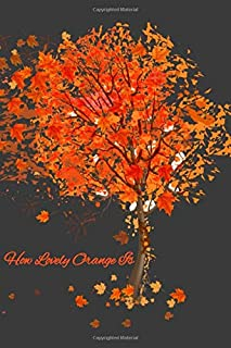 How Lovely Orange Is: Lined Notebook Journal - 110 Pages - Large (6 x 9 inches)