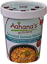 Vegan Sprouted Quinoa and Red Lentil Kitchari with vegetables Ayurveda Spices – Gluten Free, Low Sodium, Ready to eat Indian Meal in a bowl - Gluten Free, Vegetarian Khichdi Aahana's (Pack of 4)
