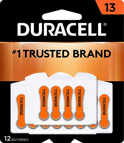 Duracell - Hearing Aid Batteries Size 13 (Orange) - long lasting battery with EasyTab for ease of...