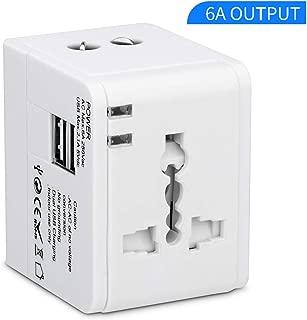 Travel Adapter,Universal Travel Adapter,International Plug Adapter,International Power Adapter for US, UK, EU, AU, Over 200 Countries, Multifunctional Converter Plug and Socket Dual USB