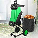 Electric Wood Chipper Shredder, 2400W Garden Tree Branches Chipper with 10M Power Cord