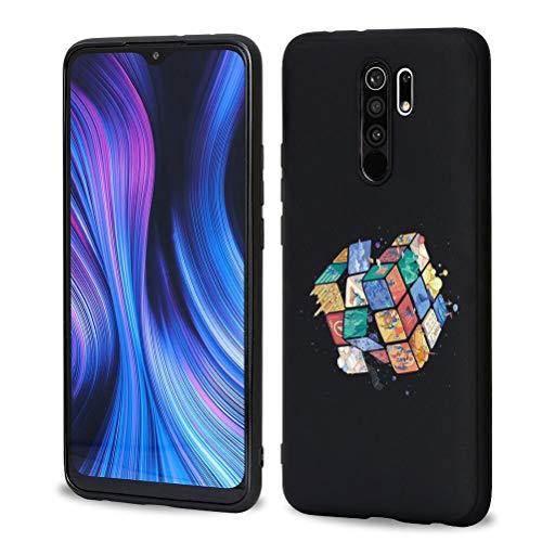 ZhuoFan Funda para Xiaomi Redmi Note 10 5G, Cárcasa Negra Silicona Antigolpes Ultrafina con Dibujos Diseño Suave TPU de Protector Piel Cover Fundas Movil para Redmi Note 10 5G 6,5