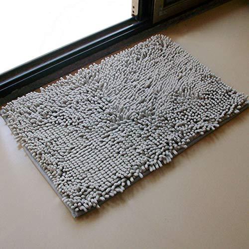 KEAINIDENI toiletmat 3 maten badmat badkamer tapijt badmat voor toilet badkamer tapijt toilettapijt toiletmat bad tapijt antislip absorberend zacht chenille 50x80 Grijs