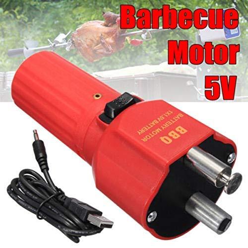 Ablita 5V Griglia Barbeque Motore Girarrosto Barbecue Rotatore Batteria Arrostire Staffa Supporto