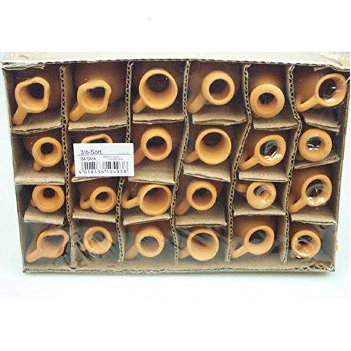 24 Stück Mini Krüge aus Ton. Naturton Tonkrüge. Höhe 6cm