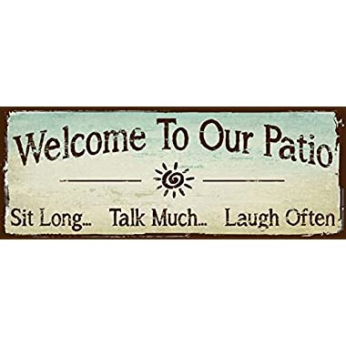 Sun Protected Welcome to Our Patio Metal Sign, Outdoor Living, Rustic Decor