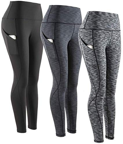 SERHOM Yoga Pants, High Waist Tummy Control Workout Women Yoga Leggings with Pockets XXL 3 Pack