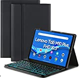 EasyAcc Funda compatible con Lenovo Tab M10 FHD Plus (2nd Gen) 10.3 con teclado Inalámbrico Bluetooth Inglés Negro