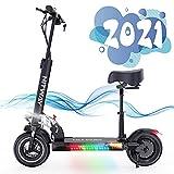 SOUTHERN WOLF Elektro Scooter mit 800W Motor Max. 40-43km/h 10Ah Erwachsen, Elektroscooter mit Sitz Faltbarer Elektroroller Für Erwachsene E Scooter