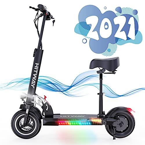 SOUTHERN WOLF Patinete Eléctrico para Adultos, Scooter Plegable con 800W Motor de 10 Pulgadas Velocidad Máxima 30km/h, Scooter Eléctrico con Pantalla LCD para Adultos y Adolescentes