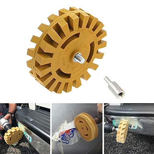 4 Inch Car Pneumatic Rubber Eraser Wheel Pad Rubber Disk Decal Eraser Wheel Car Sticker Remover Paint Cleaner Car Polish Auxiliary Tool