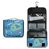 Avión Lindo Azul Bolsa de Aseo Colgante Organizador Cosmético de Viaje Ducha Bolsa de Baño Neceser de Viaje para Maquillaje niñas Mujeres