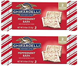 Ghirardelli (2) Bars Peppermint Bark Candy Bars - Natural Flavors - 2 Squares per Pack - Holiday & Christmas Candy - Net W...