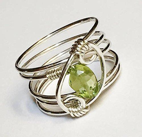 handmade ring Peridot ring sterling silver ring peridot ring peridot ring 925 sterling silver ring peridot silver ring