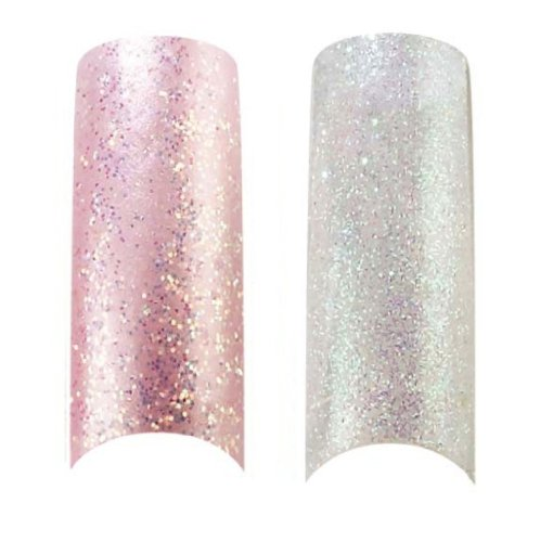 x2 Pack of 100 Capsule d'Ongles Professionel Paillettes Cala Rose Glace & Transparent (87824,87827) + Kit d'Ongles Aviva