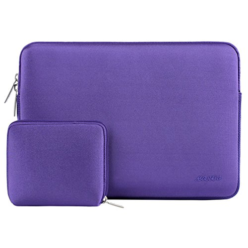 MOSISO Wasserabweisend Neopren Hülle Sleeve Tasche Kompatibel mit 13-13,3 Zoll MacBook Pro, MacBook Air, Notebook Computer Laptophülle Laptoptasche Notebooktasche mit Kleinen Fall, Ultra Violet
