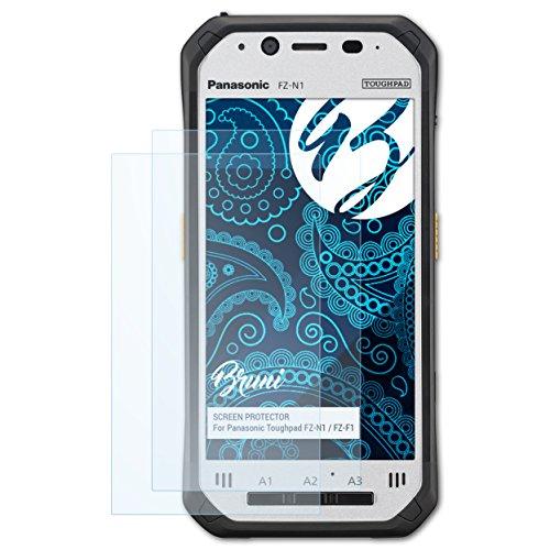Bruni Schutzfolie kompatibel mit Panasonic Toughpad FZ-N1 / FZ-F1 Folie, glasklare Bildschirmschutzfolie (2X)