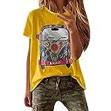 VEMOW Camisetas Mujer Verano Primavera Moda para Chicas Tall