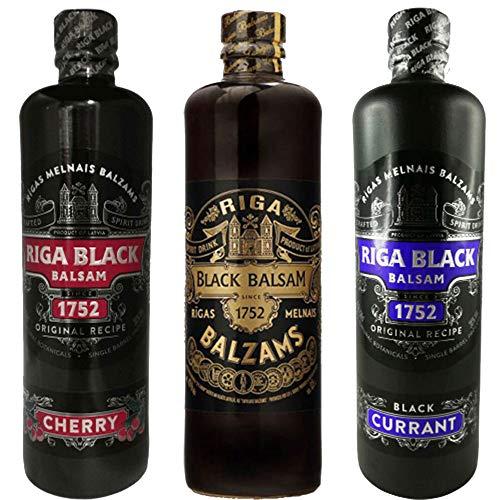 Riga Black Balsam Original & Currant & Cherry 3er Set Rīgas Melnais balzam Sparset