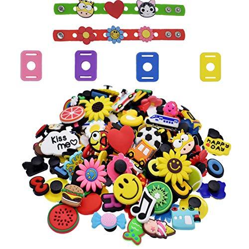 Etern 50 Piezas Different Shoe Charms, Adornos de Zapatos PVC Encantos de...