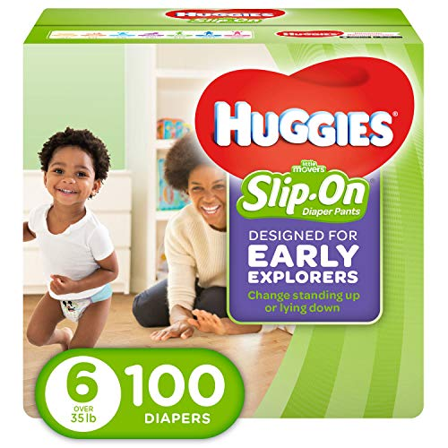 HUGGIES Little Movers Diaper Pants, Size 6, 100 Count