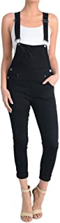 Women's Solid Color Skinny Overalls