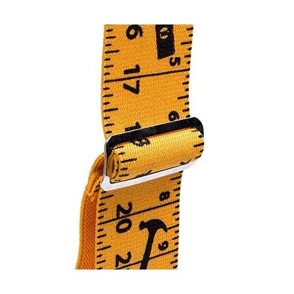 Mens Suspenders 2″ Wide Adjustable and Elastic Braces X Shape with Very Strong Clips – Heavy Duty tape measure suspenders for men (Rule)…