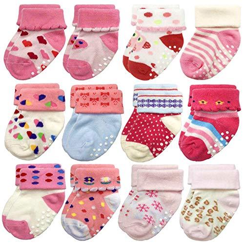 (15% OFF Coupon) Baby Girl Cotton Socks 12pk $10.97