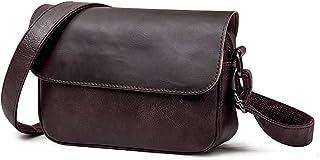 BAGZY Pequeño Bolso de Hombre Bandolera Cuero Crossbody Bolso de Mano Bolsa de Cuero Messenger Hombre Piel Práctico Bolsa ...