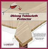 LAMINET Heavy-Duty Deluxe Crystal Clear Vinyl Tablecloth Protector 54' x 74' - Oblong