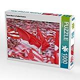 CALVENDO Puzzle Fahnen-Meer im Fußball-Stadion 1000 Teile Lege-Größe 64 x 48 cm Foto-Puzzle Bild Verlag