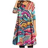Tunics for Women to Wear with Leggings 3/4 Sleeve Vintage Elegant...